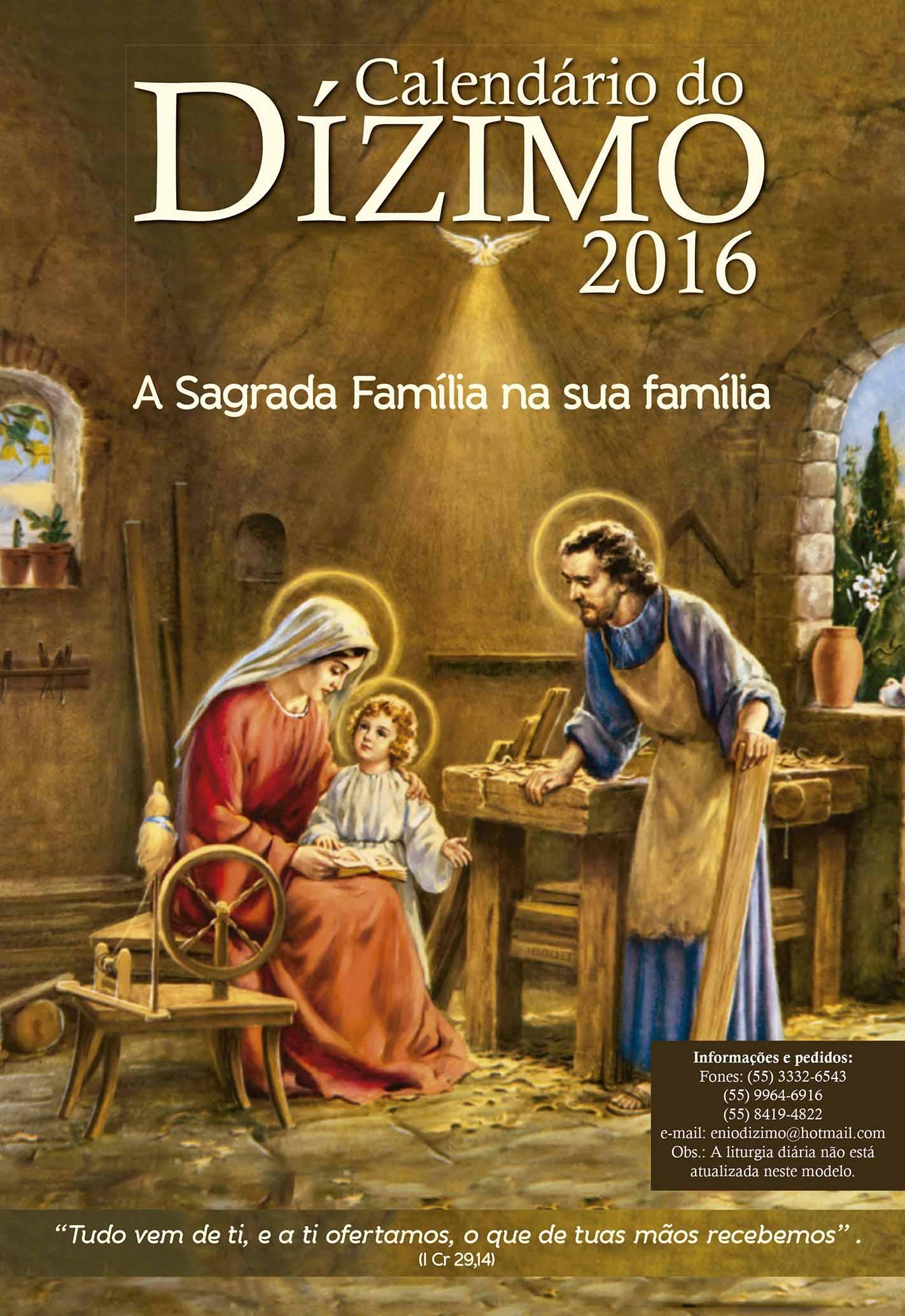 Calendário do Dízimo de 2016