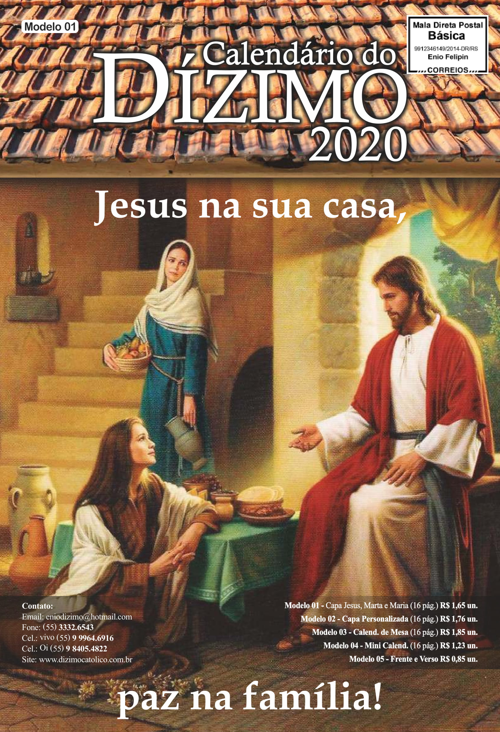 Calendário do Dízimo 2020